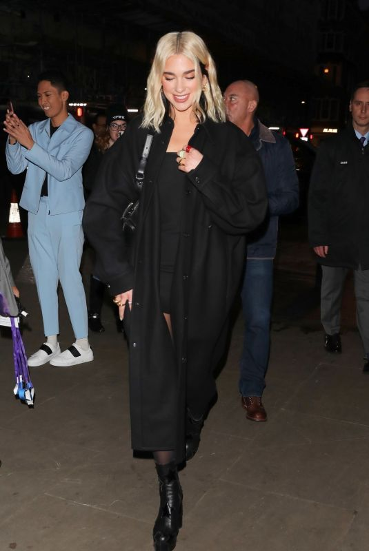 DUA LIPA Aarrives BBC's The One Show in London 02/04/2020