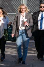 ELISABETH MOSS Arrives at Jimmy Kimmel Live in Los Angeles 02/25/2020