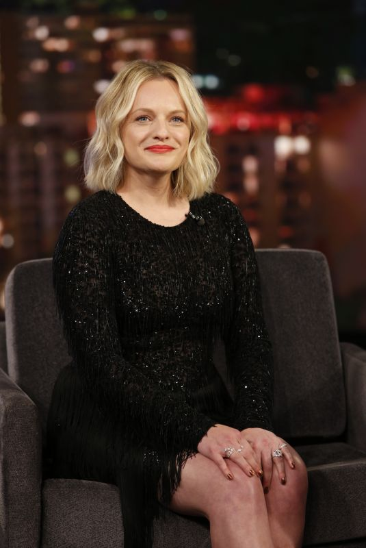 ELISABETH MOSS at Jimmy Kimmel Live! in Los Angeles 02/25/2020