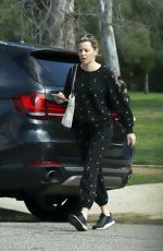 ELIZABETH BANKS Out for Iced Coffee in Los Angeles 02/24/2020