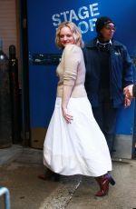 ELIZABETH MOSS Arrives at GMA Studios in New York 02/26/2020