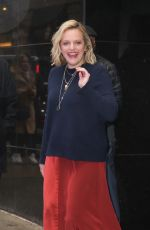 ELIZABETH MOSS Leaves Good Morning America in New York 02/26/2020