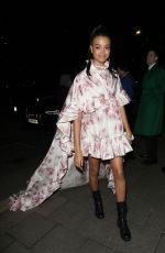 ELLA BALINSKA Arrives at Bafta Vogue x Tiffany Fashion and Film After-party in London 02/02/2020