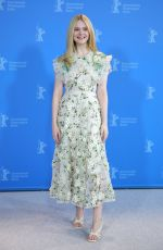ELLE FANNING at The Roads Not Taken Photocall 02/26/2020
