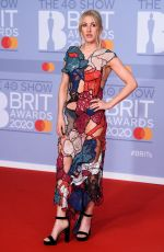 ELLIE GOULDING at Brit Awards 2020 in London 02/18/2020