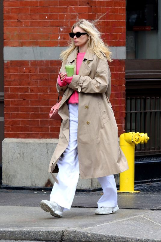 ELSA HOSK in Denim Out in New York 02/27/2020