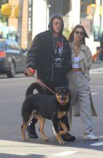 EMILY RATAJKOWSKI and Sebastian Bear McClard Out with Their Dog in New York 02/17/2020