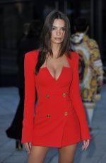 EMILY RATAJKOWSKI Arrives at Versace Show at Milan Fashion Week 02/21/2020