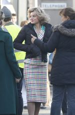 EMMA CORRIIN on the Set of The Crown in Manchester 02/08/2020