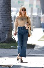 EMMA ROBERTS in Denim Out in Hollywood 02/08/2020