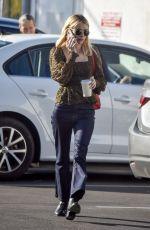 EMMA ROBERTS Leaves Blue Bottle Coffee in Los Angeles 02/07/2020