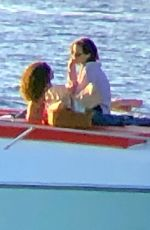 EMMA WATSON and Her Boyfriend on a Boat in Formentera 02/14/2020