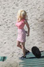 EMMY ROSSUM on the Set of Angelyne at a Beach in Malibu 02/26/2020