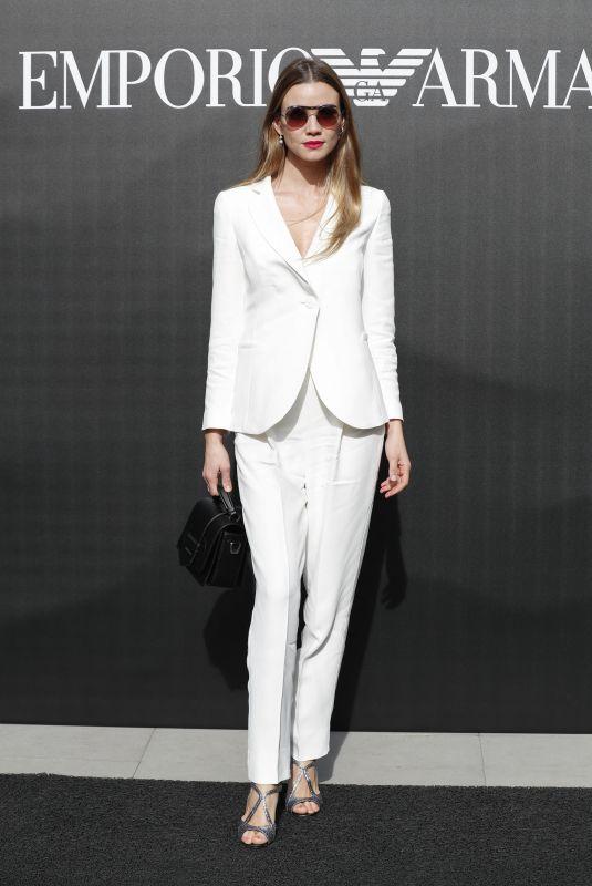 FIAMMETTA CICOGNA at Emporio Armani Show at Milan Fashion Week 02/21/2020