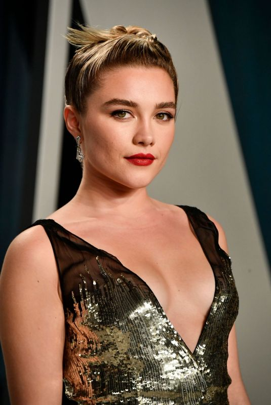 FLORENCE PUGH at 2020 Vanity Fair Oscar Party in Beverly Hills 02/09/2020
