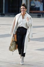 FRANKIE SANDFORD Leaves BBC Breakfast Studios at Media City 02/03/2020