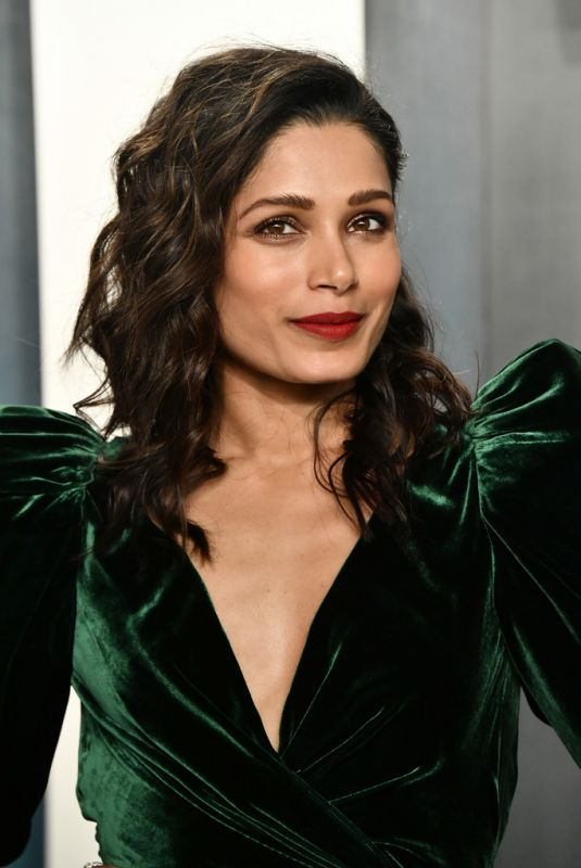 FREIDA PINTO at 2020 Vanity Fair Oscar Party in Beverly Hills 02/09/2020