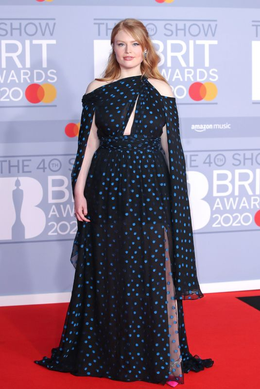FREYA RIDINGS at Brit Awards 2020 in London 02/18/2020