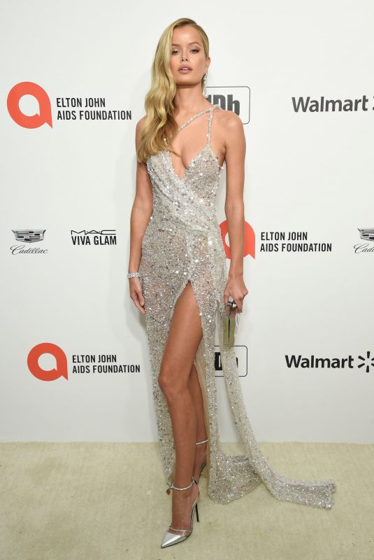 FRIDA AASEN at Elton John Aids Foundation Oscar Viewing Party in West Hollywood 02/09/2020