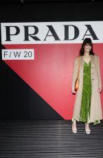 GEMMA ARTERTON at Prada Show at Milan Fashion Week 02/20/2020