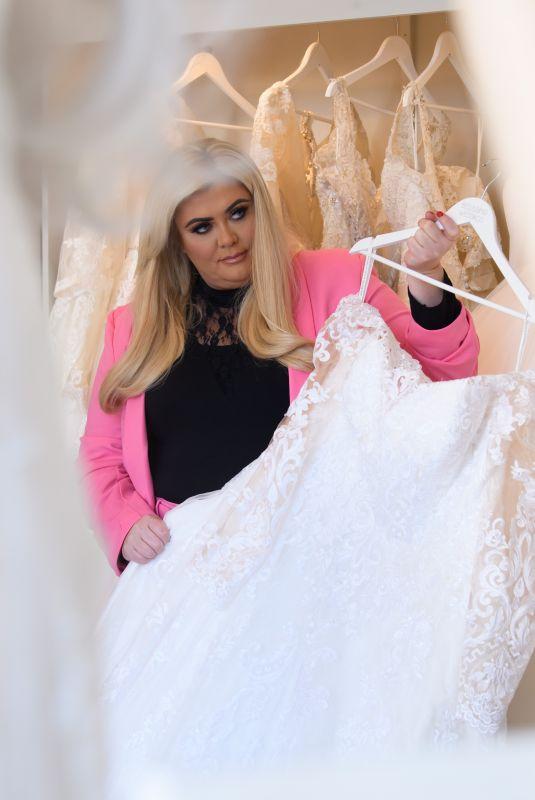 GEMMA COLLINS Trying on Wedding Dresses in Essex 01/31/2020