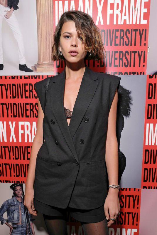 GEORGIA FOWLER at Frame x Imaan Dinner at New York Fashion Week 02/07/2020