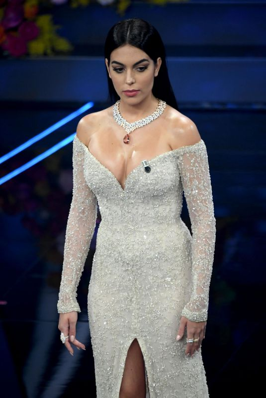 GEORGINA RODRIGUEZ at 70th Sanremo Song Festival 02/06/2020
