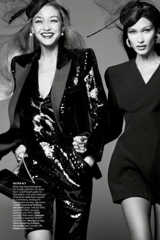 GIGI and BELLA HADID in Vogue Magazine, March 2020