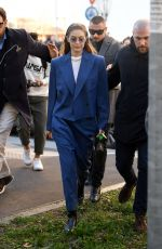 GIGI HADID Arrives at Prada Fashion Show in Milan 02/20/2020