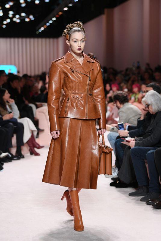 GIGI HADID at Fendi Runway Show at Milan Fashion Week 02/20/2020