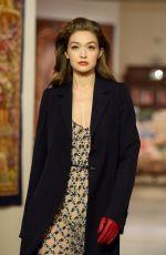 GIGI HADID at Lanvin Fall/Winter 2020 Fashion Show in Paris 02/26/2020