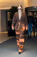 GIGI HADID Leaves Her Hotel in Milan 02/23/2020