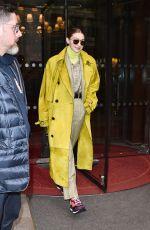 GIGI HADID Leaves Her Hotel in Paris 02/24/2020