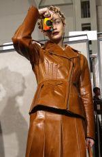 GIGI HADID on the Backstage of Fendi Fashion Show in Milan 02/20/2020