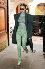 GIGI HADID Out and About in Milan 02/21/2020