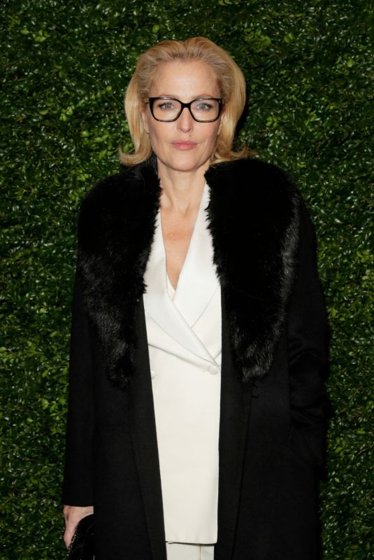 GILLIAN ANDERSON at Charles Finch and Chanel Pre-Bafta Party in London 02/01/2020