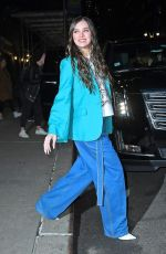 HAILEE STEINFELD Leaves Late Show with Stephen Colbert in New York 02/24/2020
