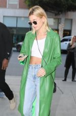 HAILEY BIEBER at South Beverly Grill in Beverly Hills 02/18/2020