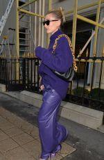 HAILEY BIEBER Leaves Balenciaga Store in Paris 02/26/2020