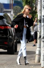 HAILEY BIEBER Out for Breakfast in Beverly Hills 02/29/2020
