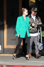 HAILEY BIEBER Out with Her Dad in Hollywood 02/11/2020