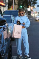 HAILEY BIEBER Shopping at Agen Provocateur in Hollywood 02/12/2020