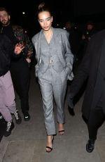 HANA CROSS Arrives at Love Magazine Party in London 02/17/2020