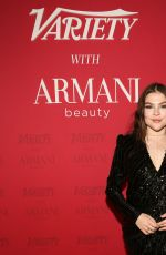 HANNAH ZEILE at Variety x Armani Makeup Artistry Dinner in Los Angeles 02/04/2020