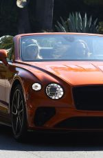 HEIDI KLUM and Tom Kaulitz Driving Out in Their Bentleyt Convertible 02/16/2020