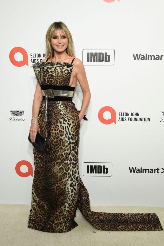HEIDI KLUM at Elton John Aids Foundation Oscar Viewing Party in West Hollywood 02/09/2020