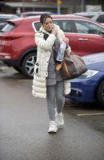 HELEN FLANAGAN Arrives at Preston FC Stadium 02/23/2020