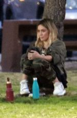 HILARY DUFF at Her Sons Football Game in Los Angeles 02/18/2020