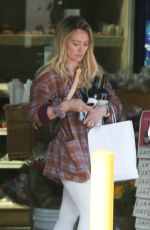 HILARY DUFF Buys Red Wine in Beverly Hills 02/14/2020