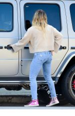 HILARY DUFF Out Shopping in Studio City 02/23/2020